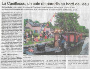 Article du journal Ouest-France sur l'inauguration du 2 juin 2018