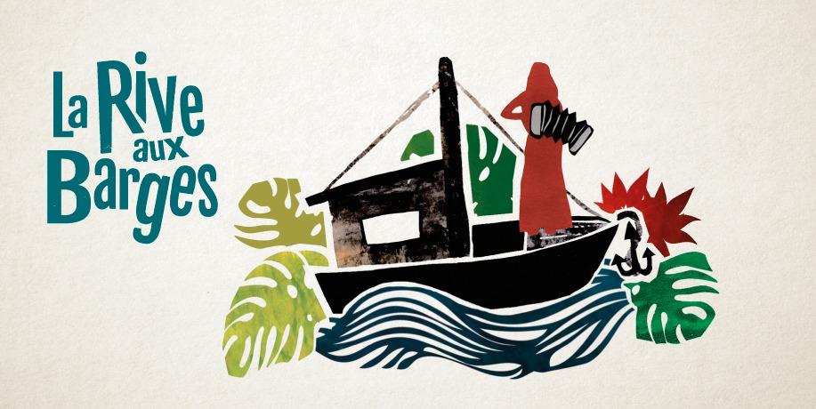 Visuel du festival flottant itinérant La Rive aux Barges