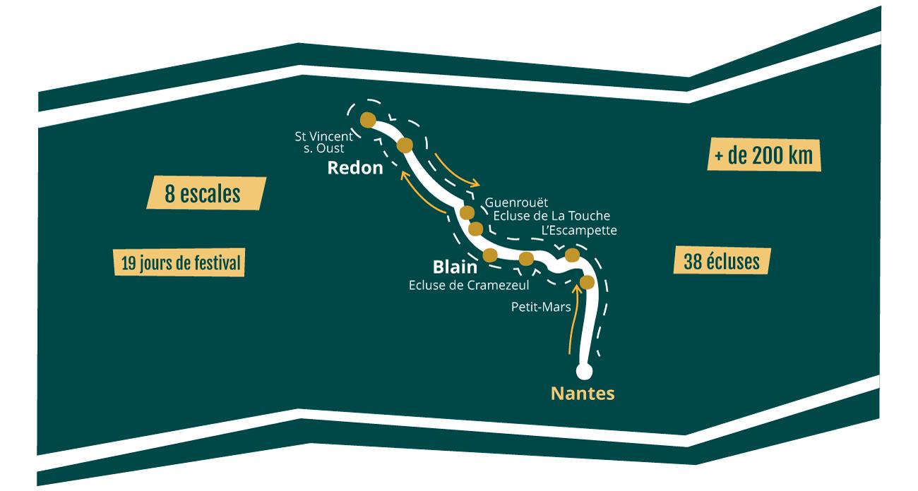 Carte du trajet de l'édition 2021