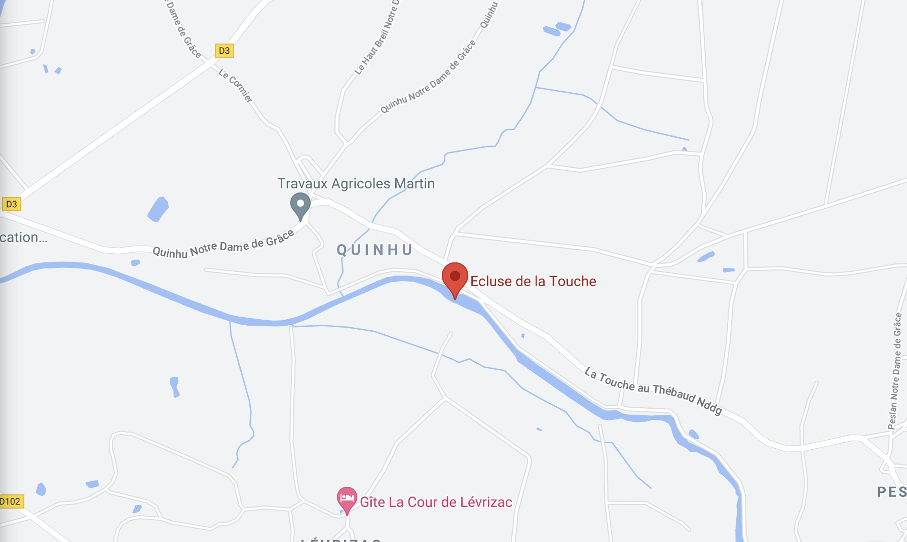 Plan de l'écluse de La Touche à Guenrouët